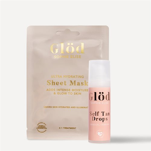 Glöd sheet mask + drops medium pakketilbud